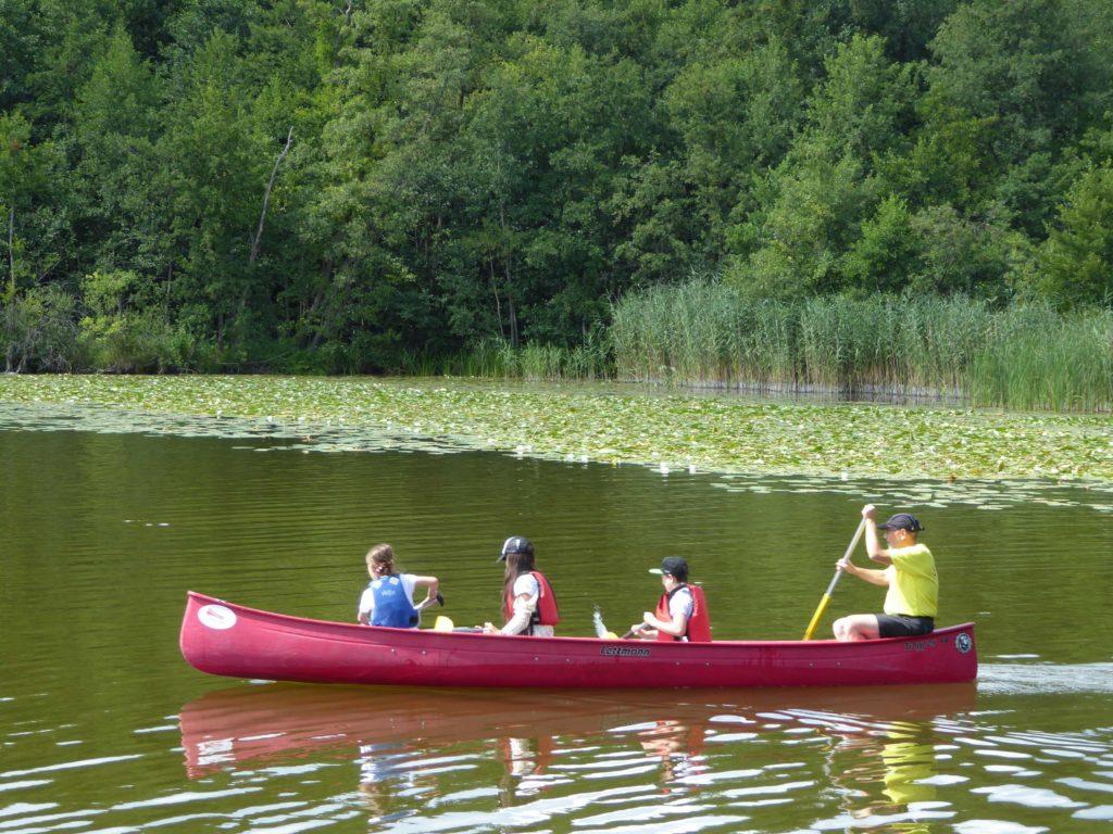 Einzelkanu auf ruhigem Wasser Nähe Neuruppin