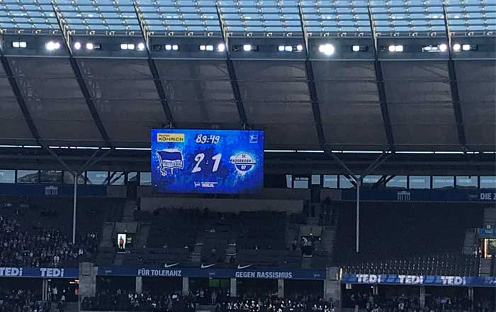 Hertha gegen Paderborn 21. Sept 19